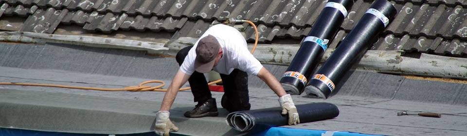 dakdekker op plat dak